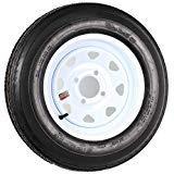 (Tredit Rim & TIRE Assembly, SPOKED Wheel, WHITE-530 X 12; 4-Hole Spoked Rim; Load Range C)