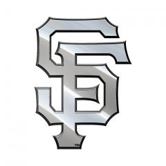MLB San Francisco Giants Metal Emblem, One Size, One (San Francisco Giants Metal)