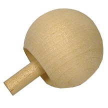 100 Pcs, Wooden Spin Tops 1-1/4'' Ball Top Hold Peg And Spin On Ball As Spins