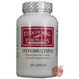 Ecological Formulas – Hypomultiple without Cu/Iron 120 caps