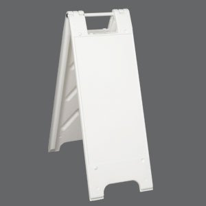 Plasticade 155-W Minicade Barricade/Sign Stands, NO SHEETING, White