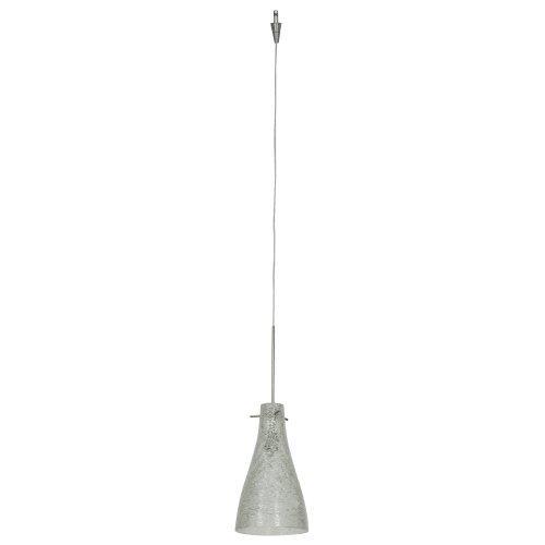 Access Italian Shade - Cavo - 1-Light Italian Wire Glass Pendant - Uni-Jack Plug - Brushed Steel Finish - Crystal Glass Shade