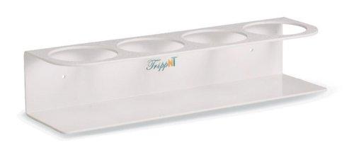 TrippNT 50157 White Acrylonitrile Butadiene Styrene Quadruple Bottle Holder, Stores 4 Bottles of 500mL, 4.25″ Diameter x 15″ Width x 3.25″ Height