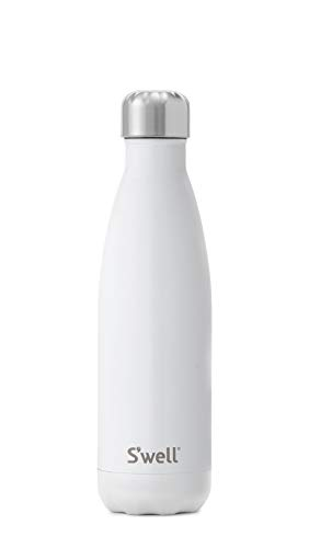 Insulated Food Bottle - S'well Vacuum Insulated Stainless Steel Water Bottle, 17 oz, Angel Food