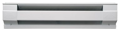 Cadet Manufacturing 05536 120-Volt White Baseboard Hardwire Electric Zone Heater, 1500-Watt, 12.5-Amp, 72-Inch, 1500 ()
