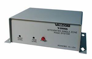 VALCOM Page Control - 1 Zone - Backup Page