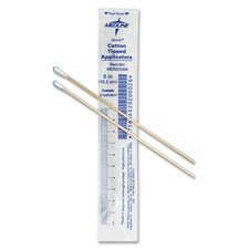 Medline Cotton Tip Applicators, 3in., Sterile, White, Box Of 200
