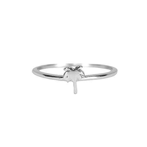 Pura Vida Silver Palm Tree Ring Size 7 -.925 Sterling Silver Ring