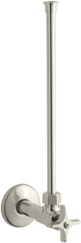 Kohler K-7638-SN Angle Supply with Stop, Annealed Vertical Tube and 1/2″ Npt, Vibrant Polished Nickel