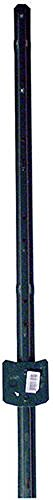 4' Fence Post - Yardworks Steel U-Post - Green - Set of 10 - Choose Lenght (4')