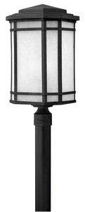 - Hinkley 1271VK-LED Craftsman/Mission One Light Post Top/ Pier Mount from Cherry Creek collection in Blackfinish,