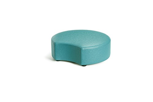 Logic Furniture MOONCTL06 Moon 2 Crescent Ottoman, 6'', Teal by Logic Furniture