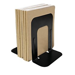 Office Depot 58% Recycled Steel Bookend, 9in, Black, OD9104