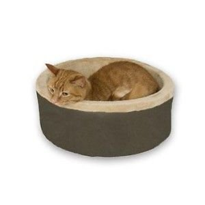 K&h Heated Thermo Kitty Cat Pet Cuddle Cup Bed Mocha 16