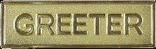 Badge-Greeter-Magnetic-Gold (5/8 x (Greeter Badge)