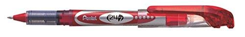 Pentel 24/7™ Roller Ball Pen, 0.7mm Tip, Red Ink (PENBLD97B) Category: Rollerball Pen 12 Per Order (Nonrefillable Pen Pentel Metal)