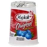 YOPLAIT YOGURT 99% FAT FREE BLUEBERRY ORIGINAL 6 OZ PACK OF 8