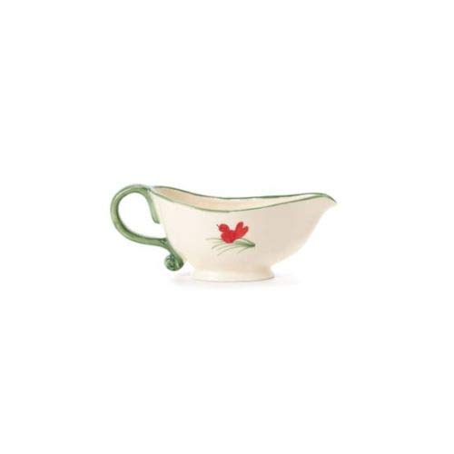 Vietri Old St. Nick Gravy Boat - Stylish Christmas Tableware