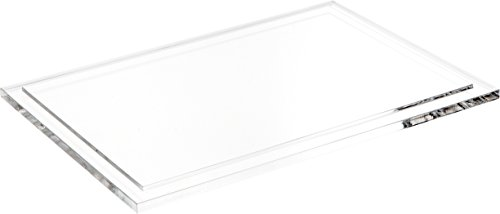 Plymor Clear Acrylic Base for Square Clear Acrylic Display Case, 10 x 10