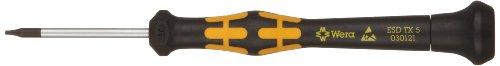 Wera 05030121001 Kraftform ESD 1567 Torx Precision Micro Screwdriver, TX5 Head, 40mm Blade Length -