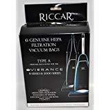 Riccar Vibrance Type A Original HEPA Vacuum Bags 6 Pack RAH-6