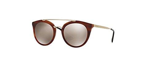 Prada PR23SS USE1C0 Striped Brown PR23SS Round Sunglasses Lens Category 3 Lens ()