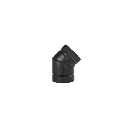 7 inch black stove pipe elbow - 8