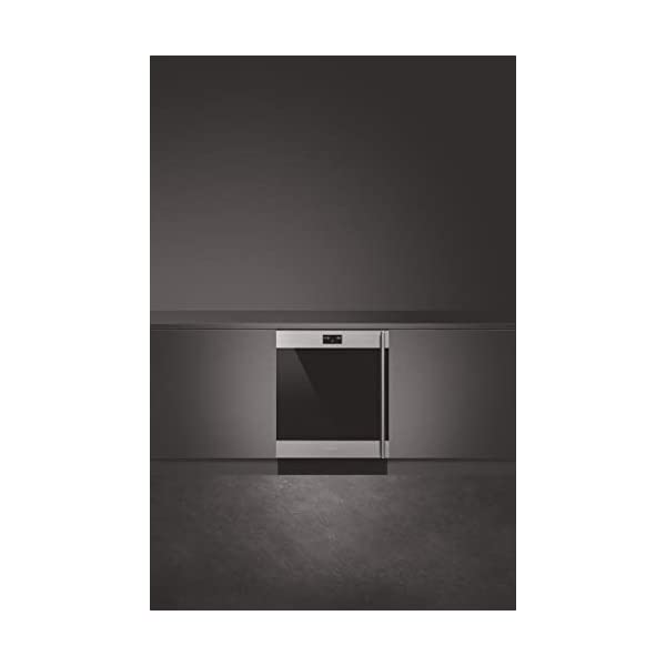 Smeg CVIU338LX Classic Series Built-In Under Counter Wine Cooler 24-Inches with 38 Bottle Capacity, 5 Extension Wine… 2