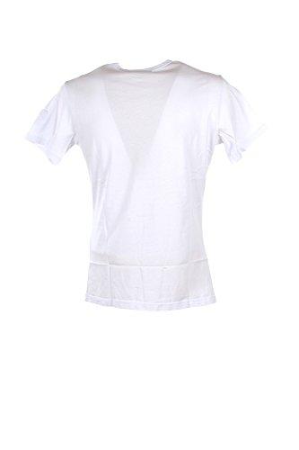 T-shirt Uomo Daniele Alessandrini Homme L Bianco M6411e6433707 Autunno Inverno 2017/18
