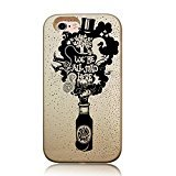 DECO FAIRY Compatible with iPhone 6 / 6s, Cartoon Anime Animated Fabulous Quotes from Alice in the Wonderland You are All Mad Here Series Transparent Translucent Flexible Silicone Cover Case