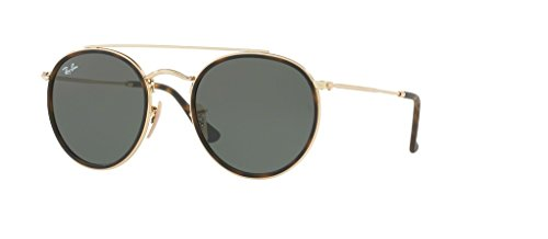 Ray-Ban RB3647N 001 51M Gold/Green Sunglasses For Men For ()
