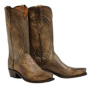 Lucchese Men's Clint Heirloom MAD Dog Goat Boot- Snip Toe Pearl 10 D(M) (Mad Dog Goat)