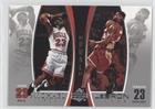 Michael Jordan; Lebron James (Basketball Card) 2005-06 Michael Jordan Lebron James Dual - Box Topper [Base] #LJMJ1 (Michael Jordan And Lebron James)