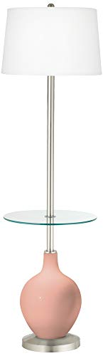 Mellow Coral OVO Tray Table Floor Lamp For Sale