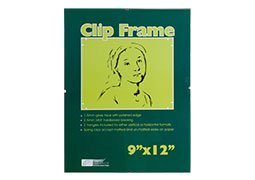 Ambiance Gallery Clip Frame Modern Low Profile Invisible Minimalist Picture Photo Gallery Frame, Includes Glass and Backing, Single - 9x12 - Clip Frames Glass