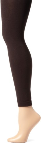 Anne Klein Women's Fleece Lined Legging, Chocolate, Small/Medium