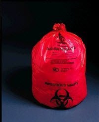 50-40 PT# 50-40- Bag Biohazard Ultra-Tuff 14x11'' 1-6 Gallon Red LF 500/Ca by, Medical Action Industries