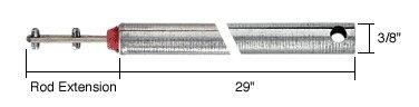 "C.R. LAURENCE FL2920 CRL 29"" Tubular Spiral Tilt Window Balance Red Bushing"
