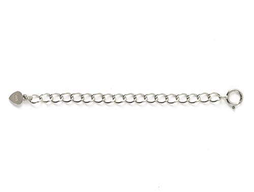 2pcs Sterling Silver Necklace Extender Cute Removable Adjustable - 4 inch Chain Extension for Necklace Anklet Bracelet SS299-4