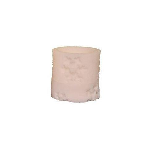 Fantastic Craft Decorative Snowflake LED Pillar Candle (Bot), 3'' x 3'', Beige by Fantastic Craft