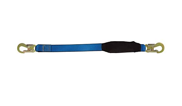 Blue//Black 6/' Tractel Inc 6 Tractel C006H Phoenix Shock-Absorbing Lanyard with 3//4 and 2-1//4 Self-Locking Snap Hook