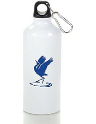 Sandhill Crane Emblem Cool Aluminum Sports Water Bottle - 400/500/600ML 400ml (Sigg Water Bottle Cleaner)