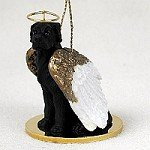 - Great Dane Black w/Uncropped Ears Pet Angel Ornament