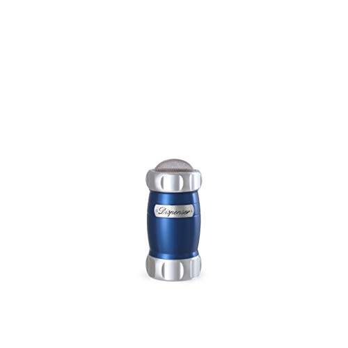 Marcato 8344BL Atlas Flour Duster Dispenser Shaker, Made in Italy, Blue, 5 x 2.5-Inches,