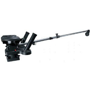 Scotty 1116 Propack 60'' Telescoping Electric Downrigger w/ Dual Rod Holders and Swivel Base by Scotty