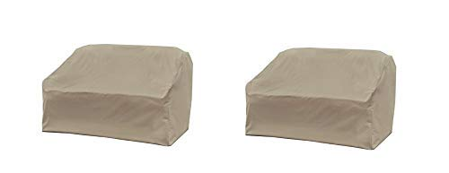 Modern Leisure 5523A Love Seat Weather & Water-Resistant Patio Loveseat Cover, (Pack of 2) by Modern Leisure