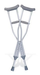 Quick Fit Crutches (Crutches Aluminum Quick Fit Child 4'0