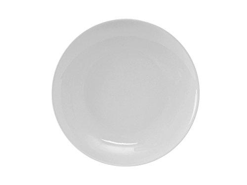 "Tuxton VPA-115 Vitrified China Florence Plate, Coupe, 11-3/4"", Porcelain White (Pack of 12),"