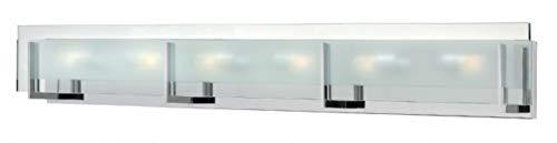Hinkley 5656CM Contemporary Modern Six Light Bath from Latitude collection in Chrome, Pol. Nckl.finish, (Latitude Hinkley)