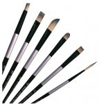 Dynasty FM22826 Synthetic Oil & Acrylic Brush Round - Size 12